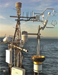 Image of CO2 flux measureing instumentation over open water